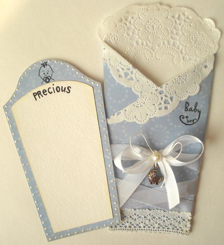 Открытка конверт с новорожденным своими руками