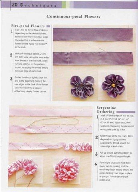 Цветок из ткани своими руками схемы