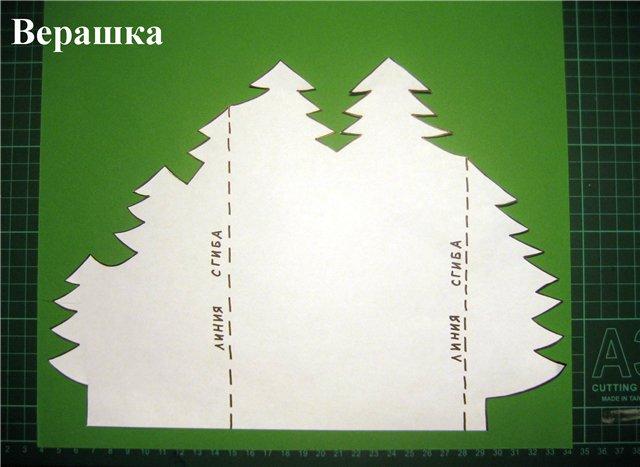Шаблоны новогодние открытки своими руками
