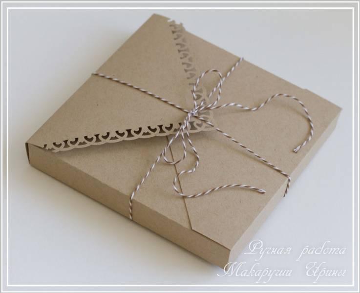 Коробочка конверт своими руками